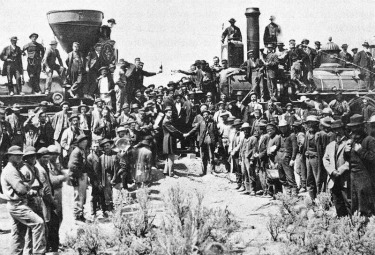 Golden Spike Ceremony 1869 by Andrew Russell